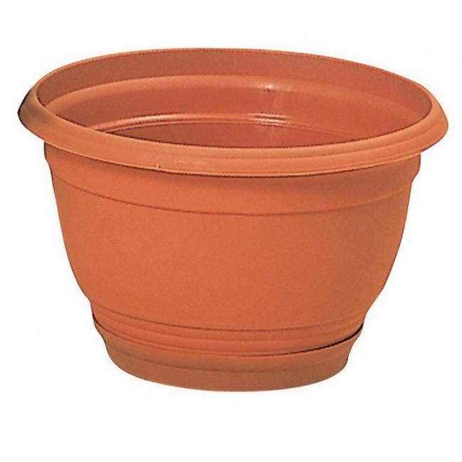 """Květináč včetně misky - průměr 240 mm,""""AGRO"""" DAGS , barva terakota"""