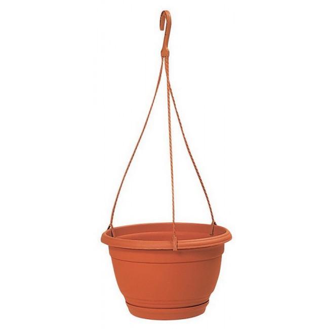 """Květináč závěsný """"AGRO"""" DAGW průměr 180 mm, barva terakota (včetně misky)"""