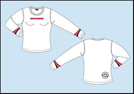 Dámské tričko Schwinn - bílé dlouhý rukáv