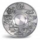 Nástěnný talíř - Hasičská auta