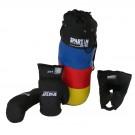 Boxovací / Boxerská sada : pytel, rukavice, chránič hlavy