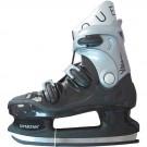 Zimní / Lední / Hokejové brusle QUEBEC černo - šedé vel. 36 - 46