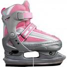Zimní / Lední / Hokejové brusle MIRIAM růžovo - šedé nastavitelné vel. 30 - 41