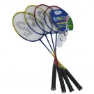 Sada badmintonových raket DE LUXE / 4 rakety, míčky, síť, stojany, kolíky /