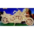 Prostorová 3D dřevěná skládačka - Motorka Harley Davidson I  A4x2