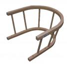 Dřevěná opěrka / ohrádka k saním /opěrka k sáňkám