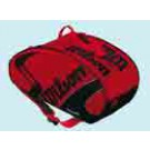 Tenisový bag Wilson TOUR Six Racket Thermal, červená/černá