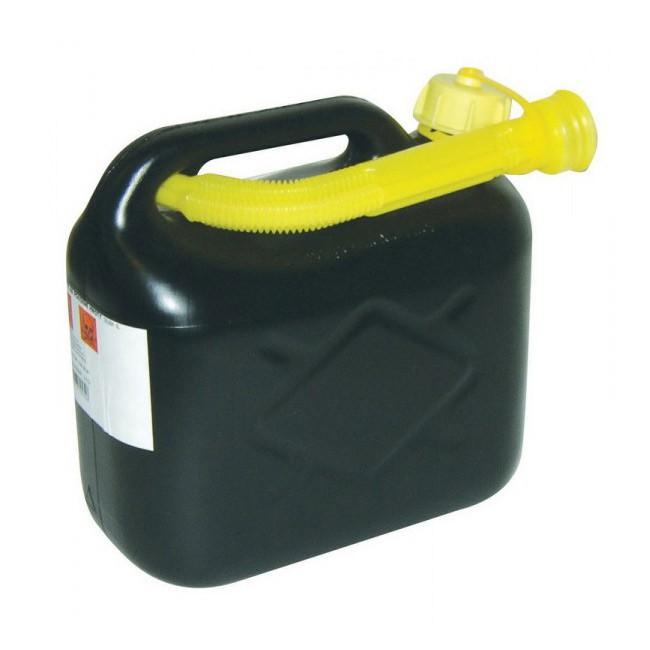 Kanystr plastový 10 l - černý na těkavé látky