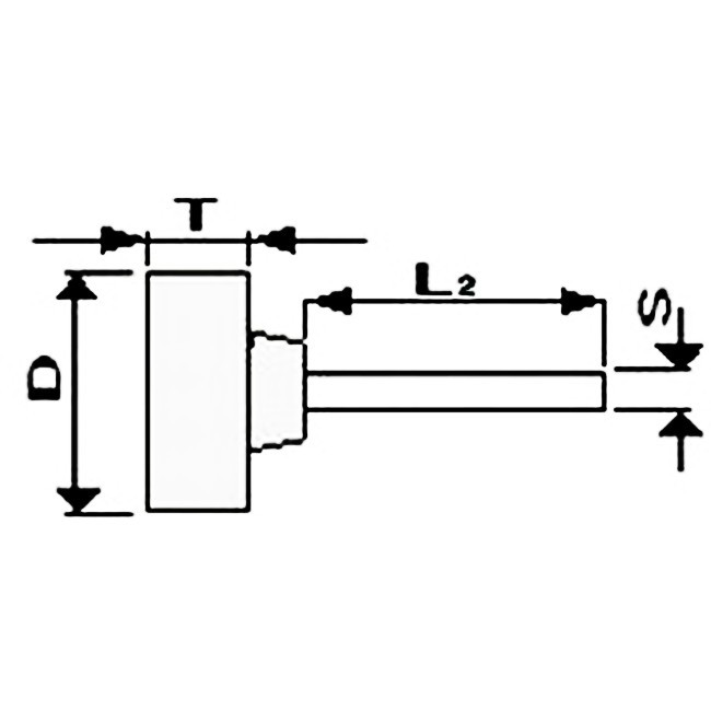 Brousící / Brusné tělísko osazené se stopkou 40 x 6 - 6 mm