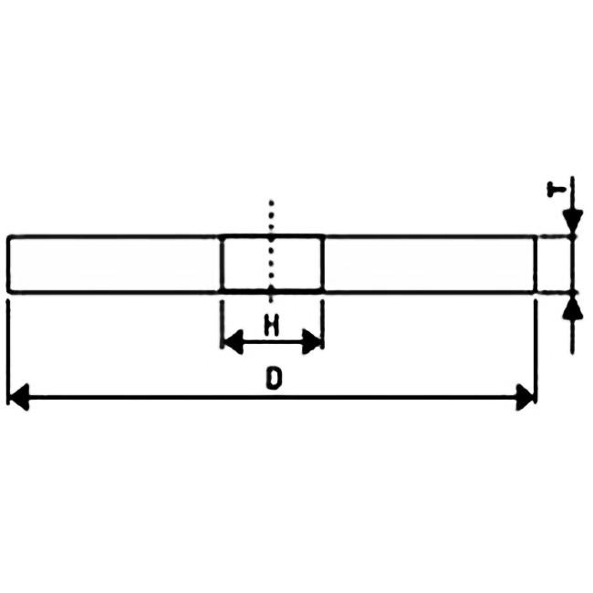 Brousící kotouč k broušení kovu bílý 70 x 8 x 6 mm