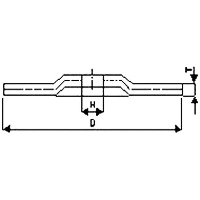 FLEX kotouč brousící vypouklý vyztužený sklotextilem / na nerez / 180 x 6 x 22,2 mm