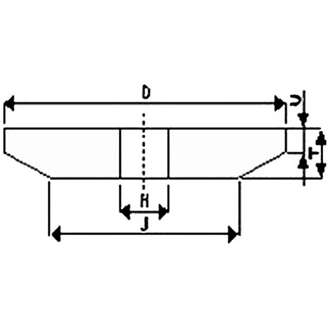 Brousící kotouč kuželový 175 x 10/3 x 32 mm