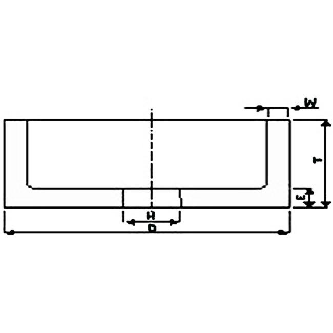 Brousící kotouč hrncovitý 150 x 80 x 32 mm