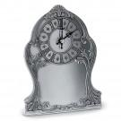 Cínové stolní hodiny pro gravírování - výška 17 cm