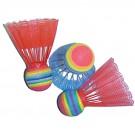 Badmintonový neonový barevný košík / míček 3 ks