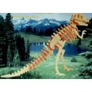 Prostorová 3D dřevěná skládačka - Tyrannosaurus A5x2