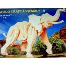 Prostorová 3D dřevěná skládačka - Slon A4x3