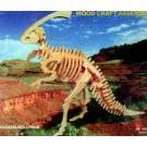 Prostorová 3D dřevěná skládačka - Parasaurolophus A5x2