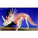 Prostorová 3D dřevěná skládačka - Styracosaurus A4x2