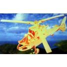 Prostorová 3D dřevěná skládačka - Helikoptéra A5x2