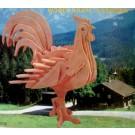 Prostorová 3D dřevěná skládačka - Kohout A5x3