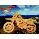 Prostorová 3D dřevěná skládačka - Motorka A5x3