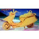 Prostorová 3D dřevěná skládačka - Luxusní motorka A4x2