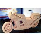 Prostorová 3D dřevěná skládačka - Závodní motorka A4x2