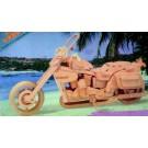 Prostorová 3D dřevěná skládačka - Motorka Harley Davidson II A4x2