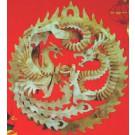 Prostorová 3D dřevěná skládačka - Čínský drak A4x3