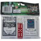 Hrací karty na poker – 2 x sada karet + 3 kostky - ORIG.CZ