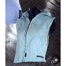 dámská vesta s kapucí - světle modrá